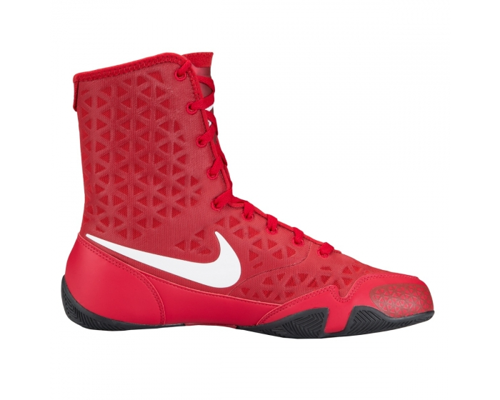 red nike boxing shoes