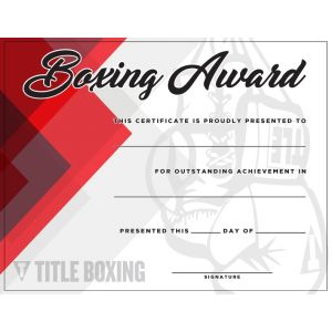 TITLE Boxing Award Certificates - 10 Pack