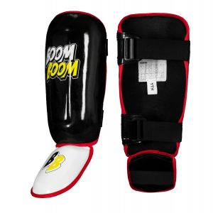 Red Small w//Mouth Guard Shin Guard Crown Boxing Premium Quality Shin Pads for Leg Protection Soccer Sparring Gear MMA Gear for Men and Women Youth and Adults