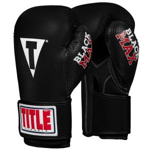 TITLE Classic Black Max Select Boxing Gloves