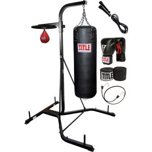 TITLE Heavy Bag/Speed Bag Stand With Bags