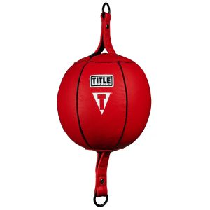 Red Title Boxing Quick Leather Double End Bag