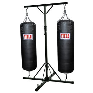 TITLE Double Trouble Heavy Bag Stand (With 2 Heavy Bags)