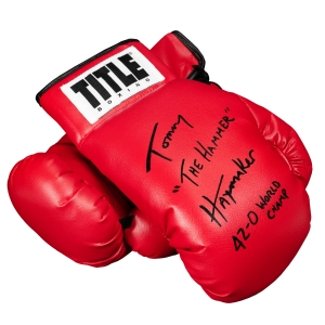 TITLE Legacy Autograph Boxing Gloves