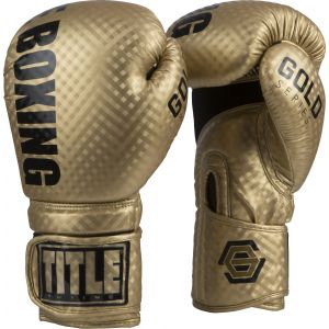 TITLE Gold Series Stimulate Boxing Gloves