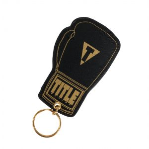 TITLE Stamped Leather Boxing Glove Keyring