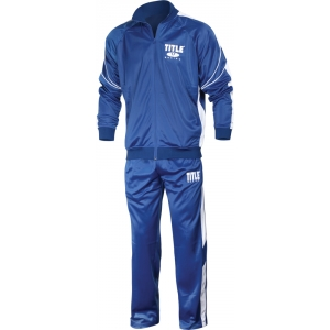 TITLE Tricot Pro Warm-Up Suit Large Royal/White