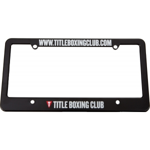 TITLE Boxing Club License Plate Holder