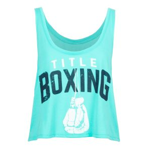 TITLE Boxing Womens Roots Flowy Cropped Tank