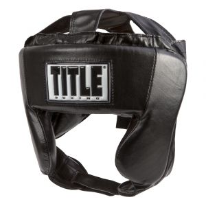 TITLE Hi-Performance Leather Headgear Black
