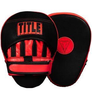 TITLE Boxing Vintage Leather Curved Mitts