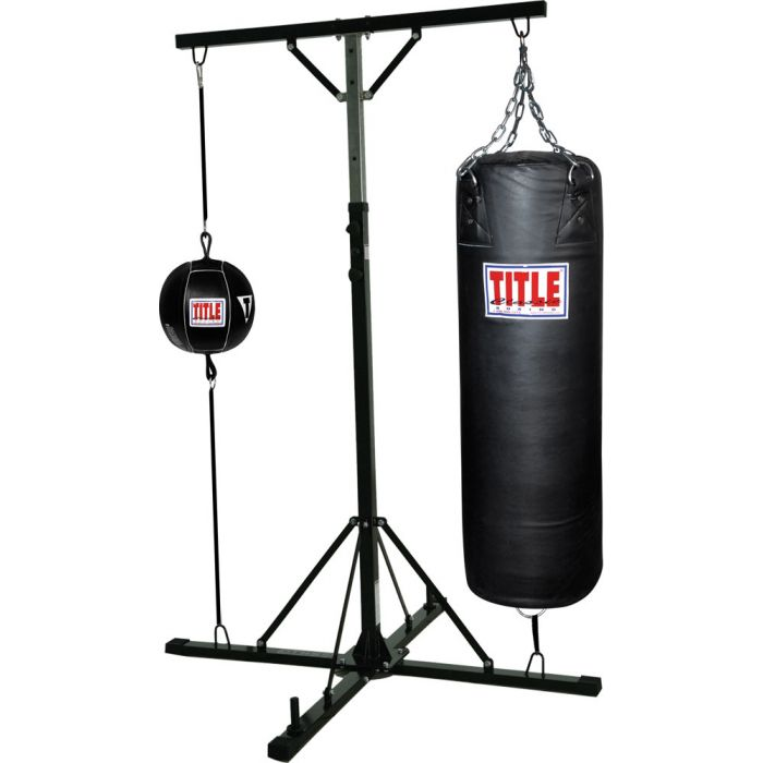 Le Double Trouble Heavy Bag Stand With End