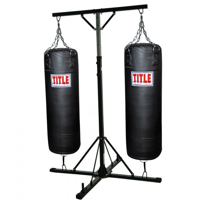 Le Double Trouble Heavy Bag Stand With 2 Bags