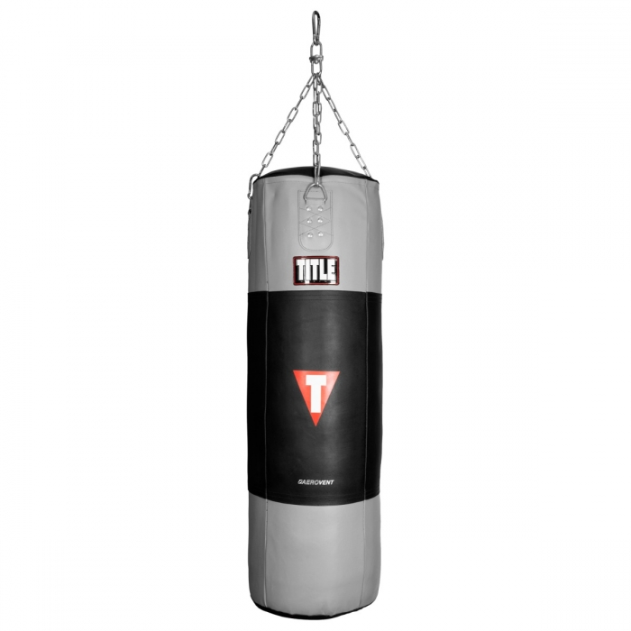 TITLE Boxing Aerovent Adjustable Weight Leather Heavy Bag