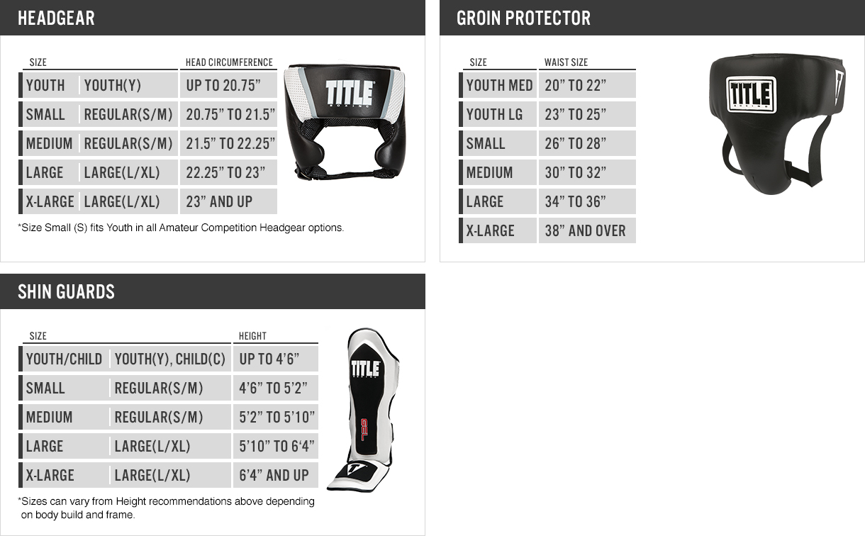 TITLE Boxing Headgear Sizing